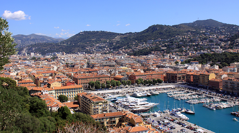 visit nice from the campsite les rives du loup