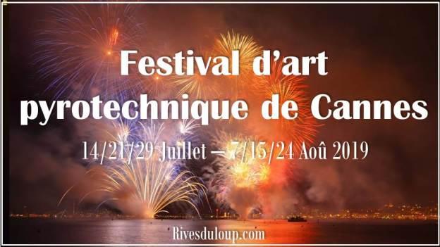 festival d'art pyrotechnique de Cannes camping les rives du loup 06 cote d azur alpes maritimes