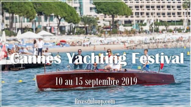 Affiche cannes yachting festival à proximité du camping hotel les rives du loup alpes maritimes 06 cote d azur