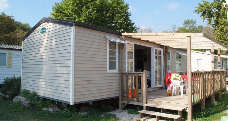 mobile home au camping Les Rives du Loup - Alpes Maritimes