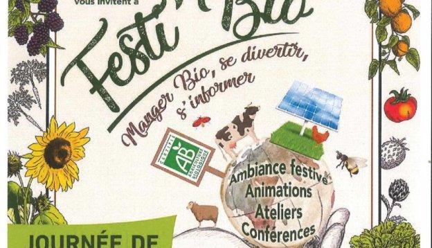 Affiche du festival Festi Bio à Gourdon proche du camping Les RIves du Loup