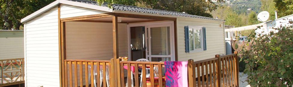 Mobile home au camping Les Rives du Loup Alpes Maritimes 06