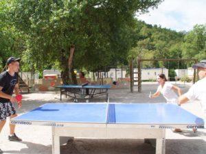 Ping-pong au camping