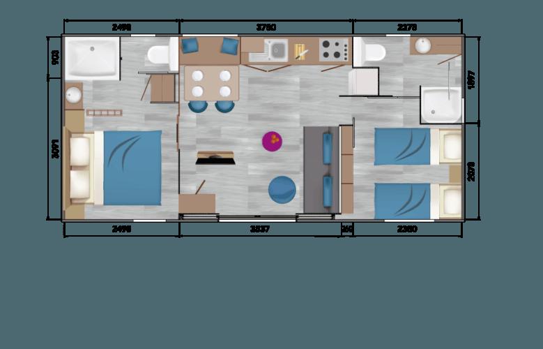 Plan Mobil Home 06 F4 Taos